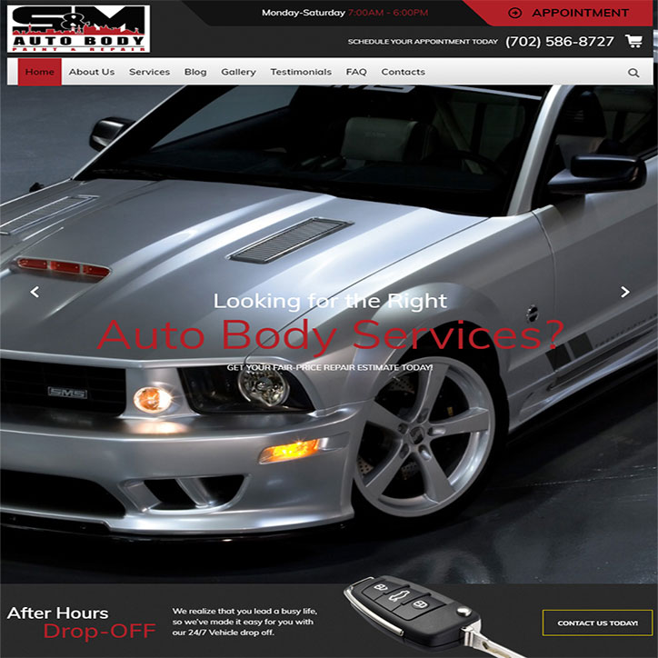 Auto Body Website Design