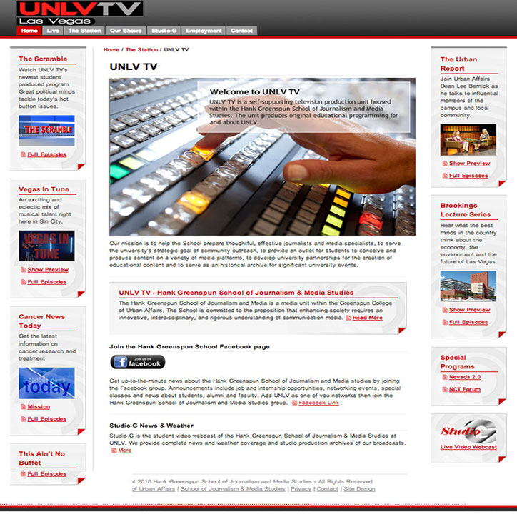 TV Broadcast Website Design